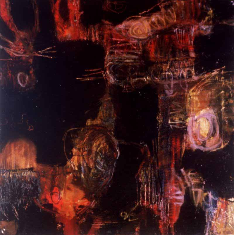 "Indian Summer: Totem, 24"" x 24"" (61 x 61 cm), Oil/Canvas, 1993"